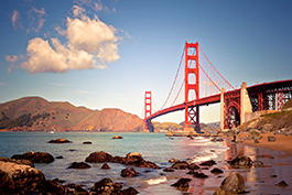 San Francisco - overlooking the Golden Gate bridge at Cavallo Point