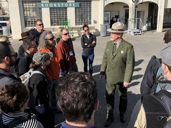 Alcatraz Island field lecture segment with Park Ranger John Cantwell